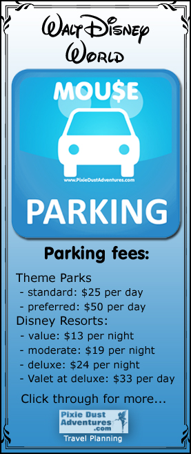 Walt Disney World Parking fees